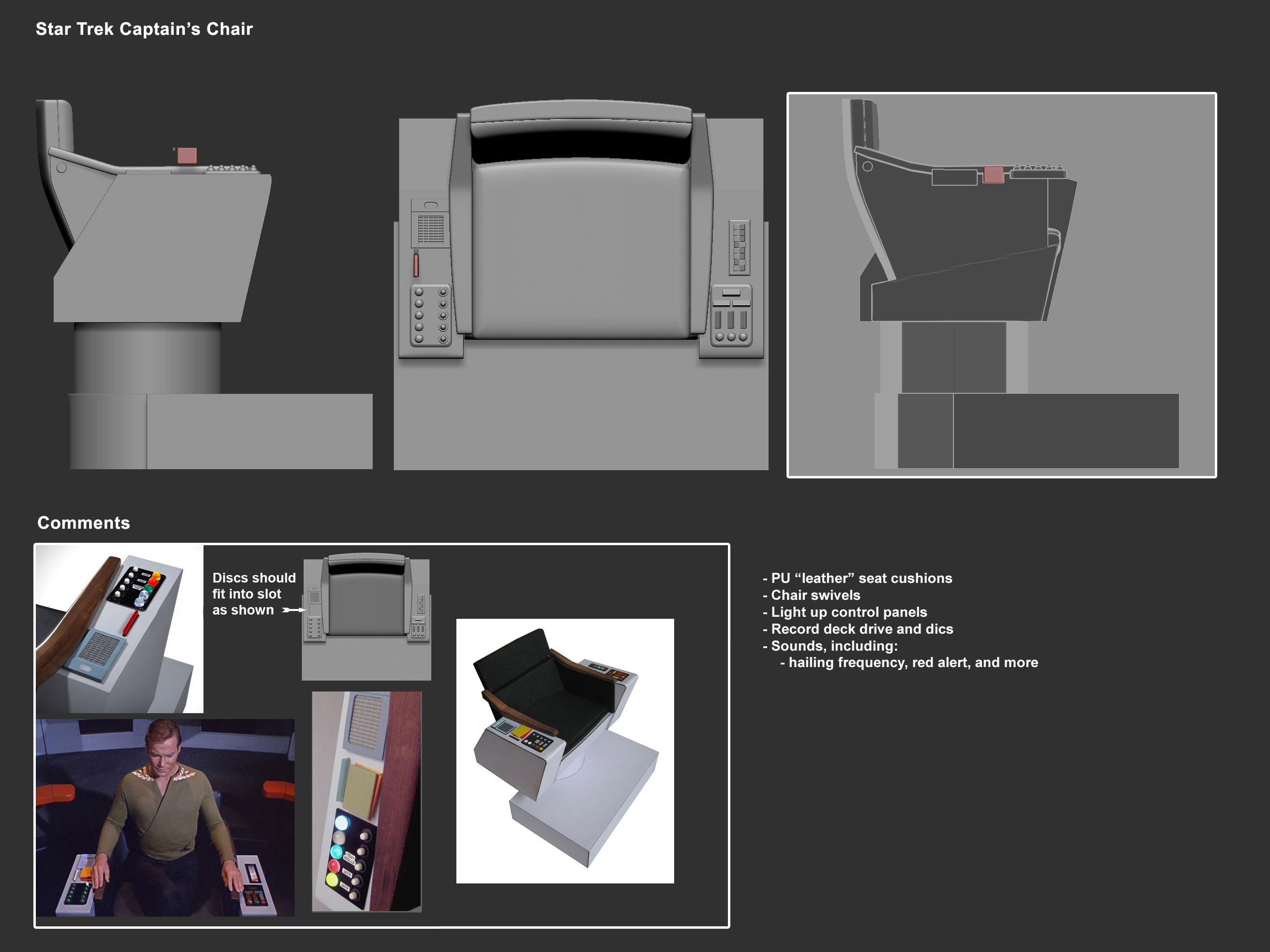 One:12 Collective Star Trek Captain's Chair Concept