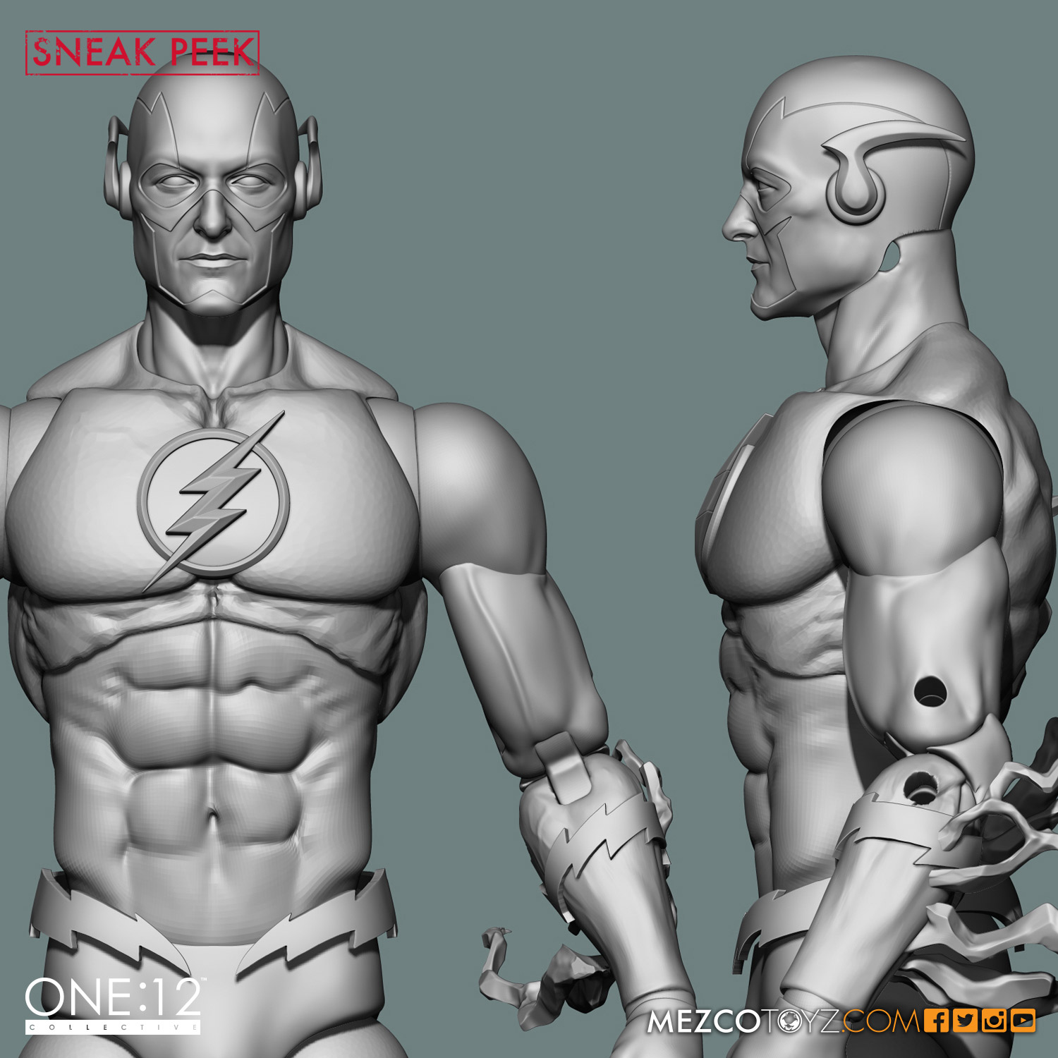 One:12 Collective the Flash 3D model