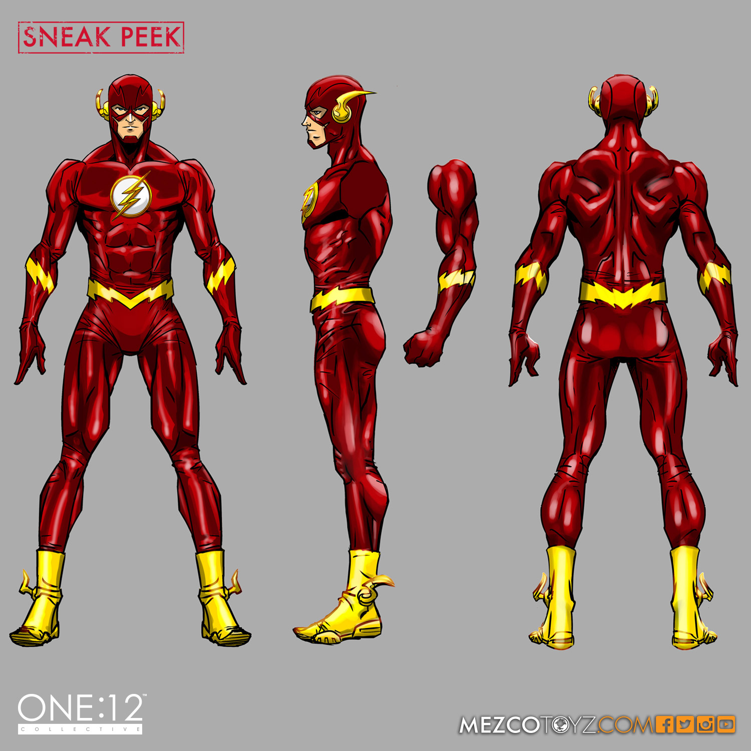 One:12 Collective the Flash concept art