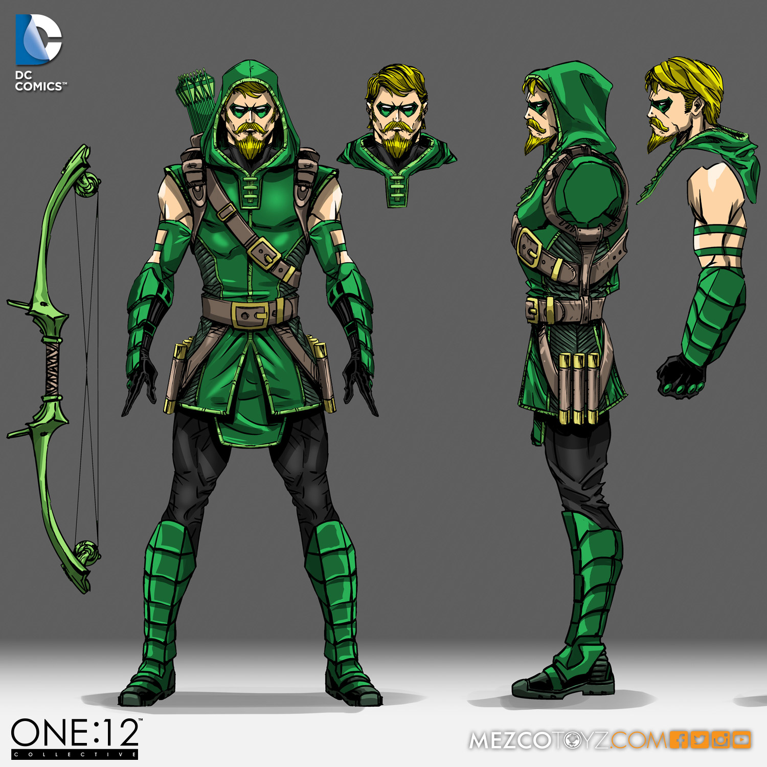 One:12 Collective Green Arrow Concept Sketch