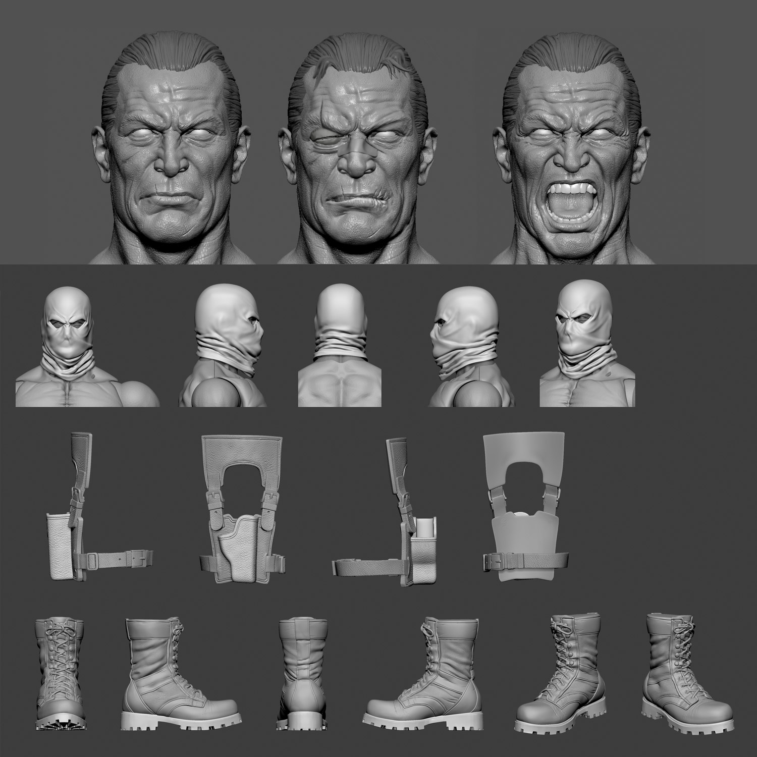 One:12 Collective Punisher 3D Model