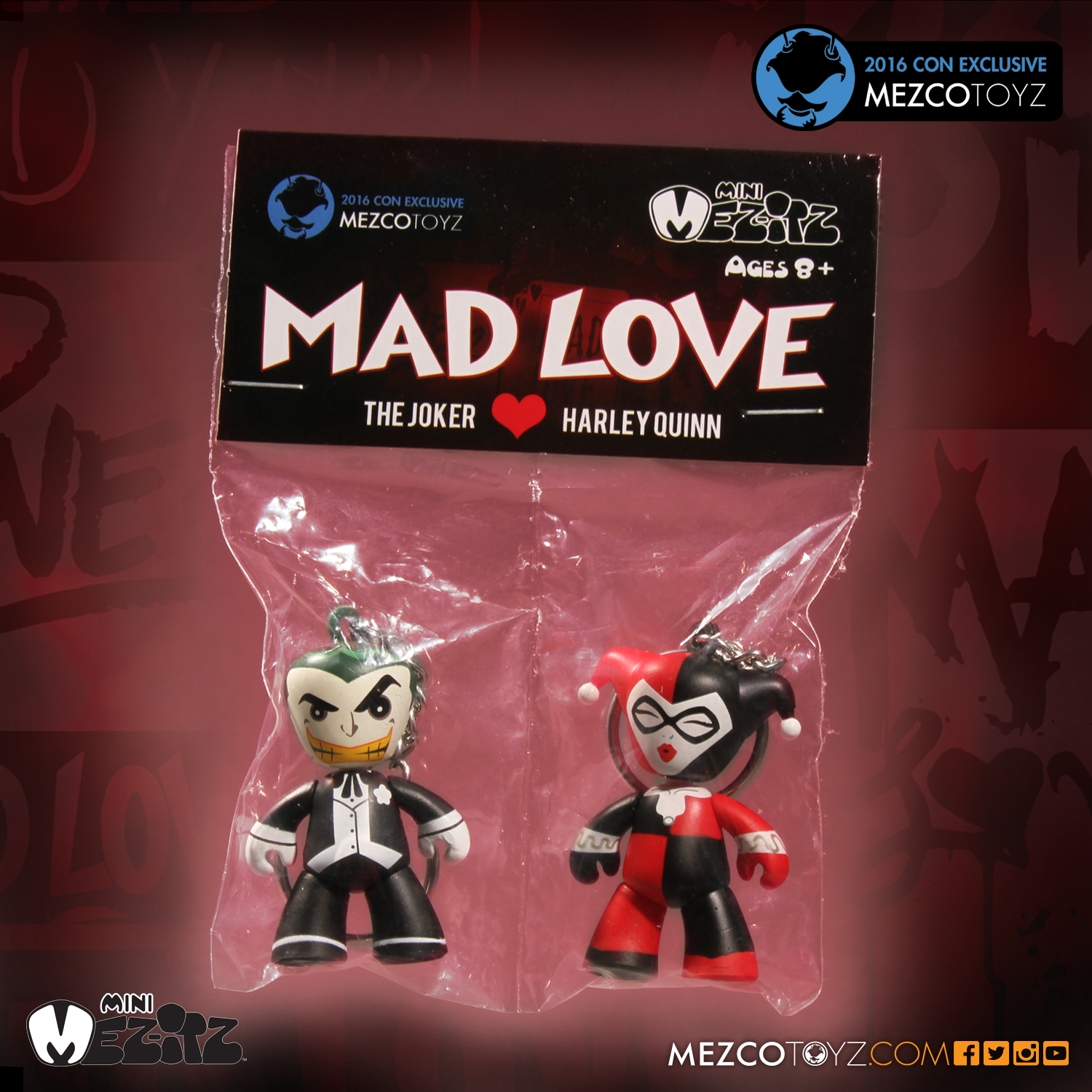 2016 Mezco Toyz Con Exclusives First Look: Mad Love Mez-itz Packaging