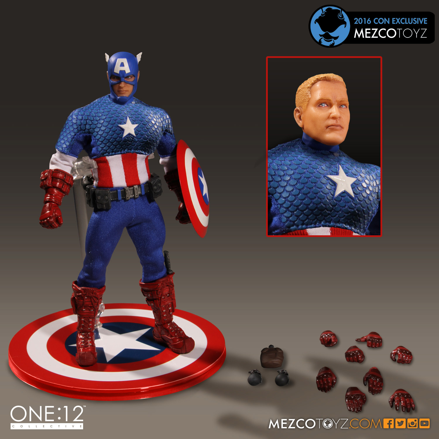 One:12 Collective Exclusive Classic Captain America Figure