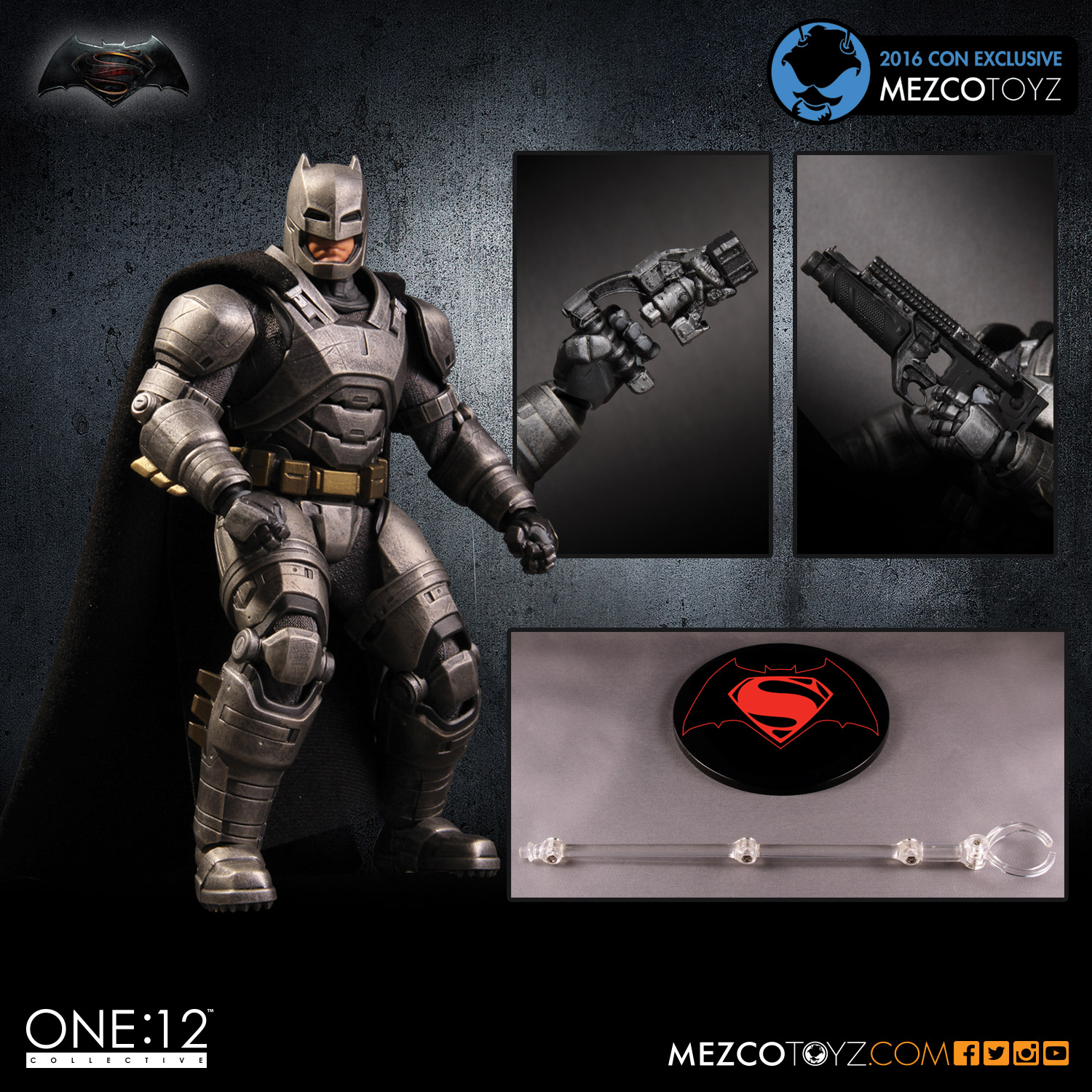 One:12 Collective Exclusive Superman v Batman Armored Batman Figure