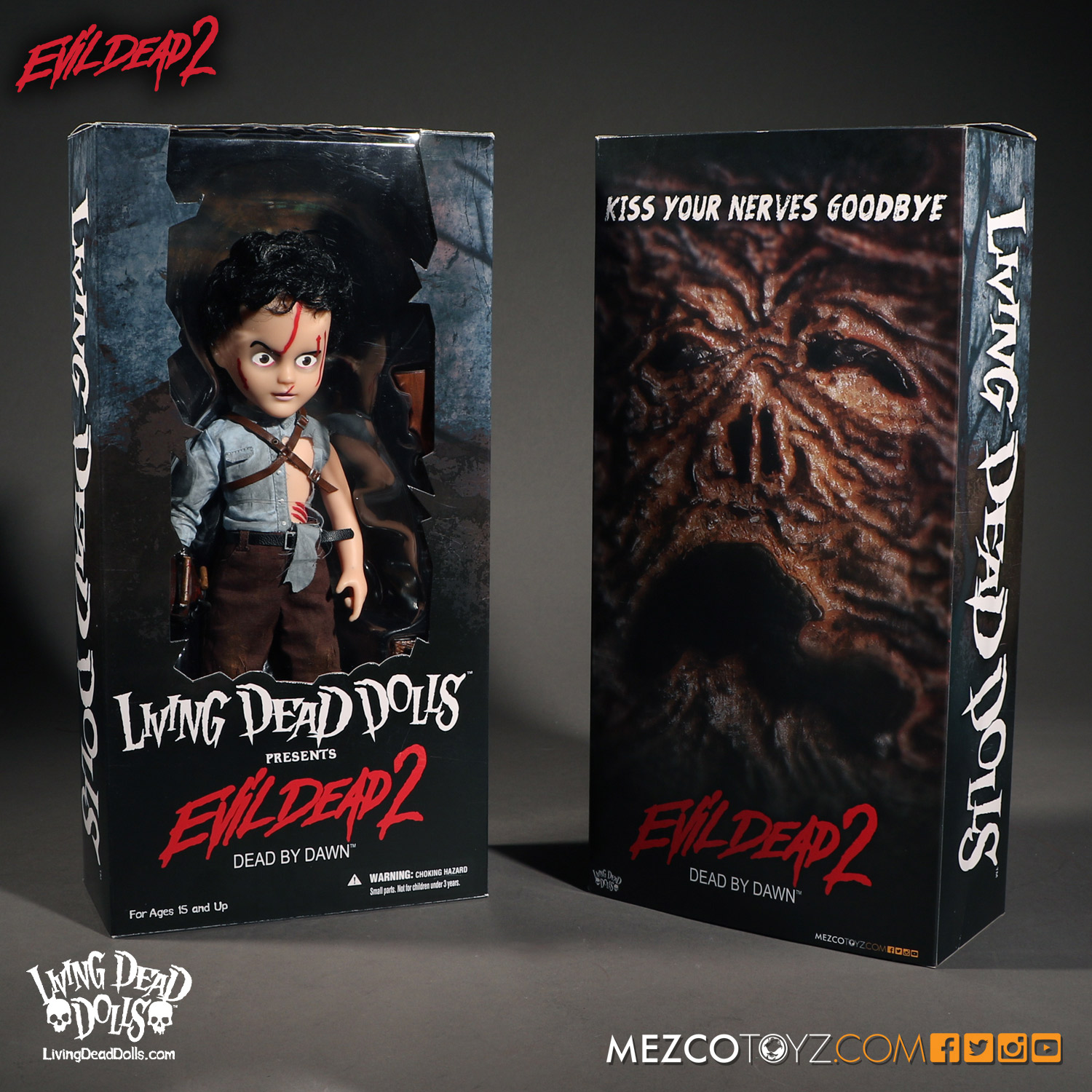 Living Dead Dolls Evil Dead 2: Ash Final Packaging