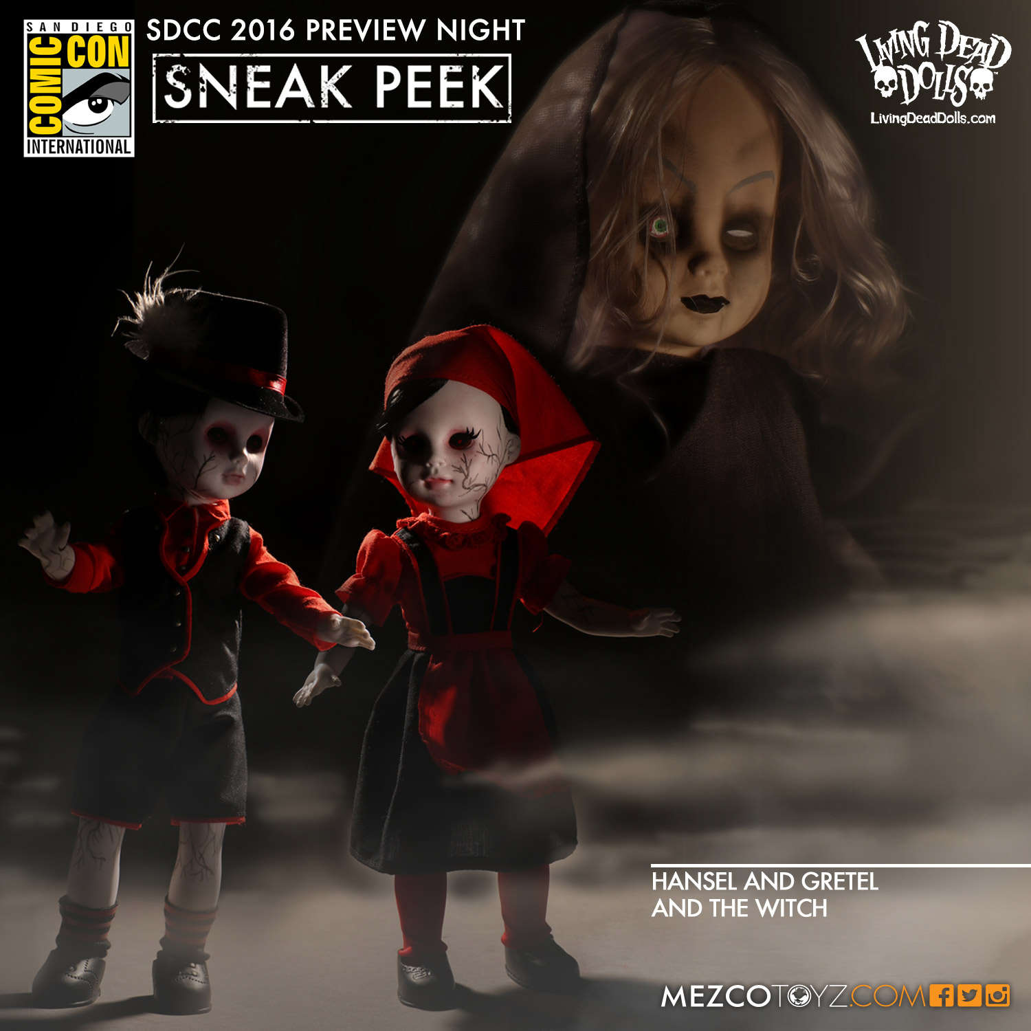Living Dead Dolls Hansel And Gretel and The Witch