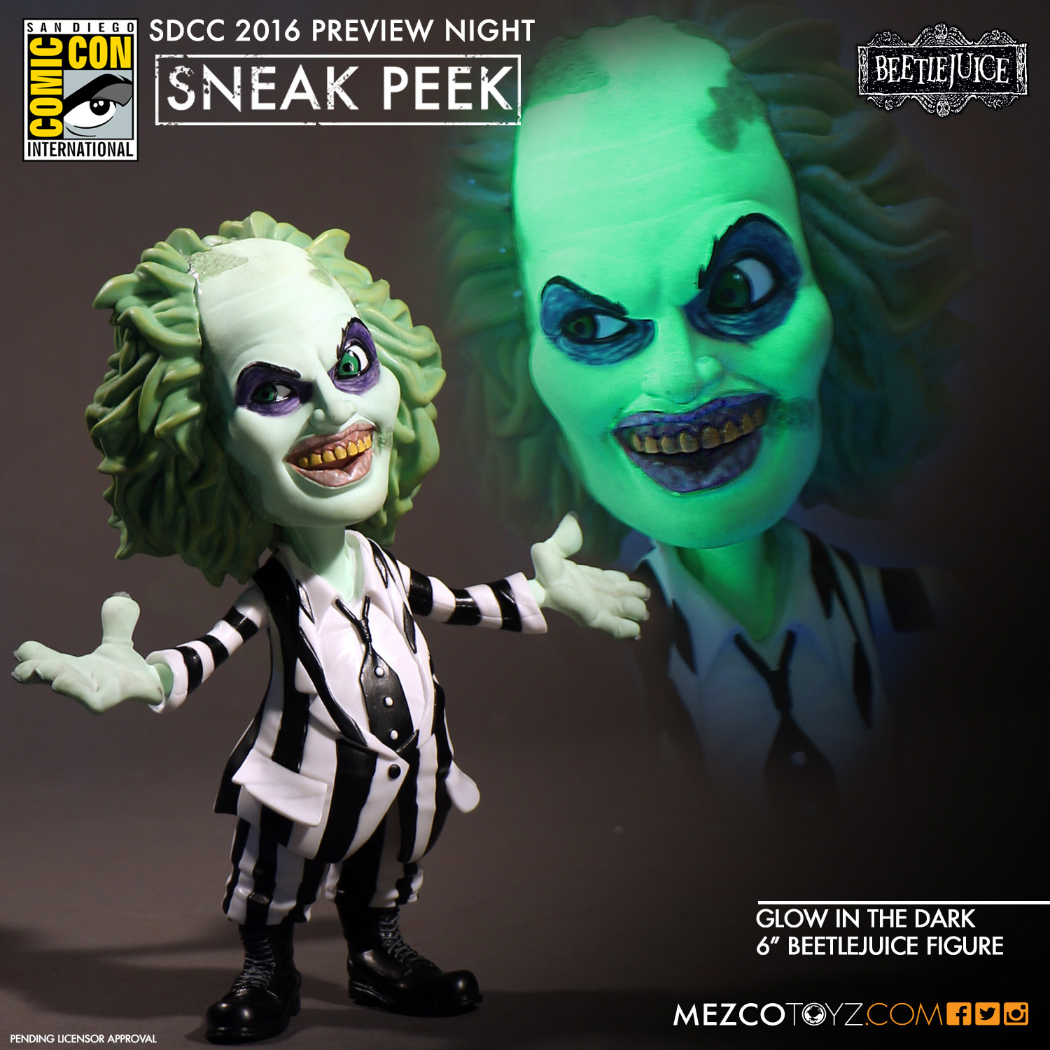 Beetlejuice Glow-in-the-dark Variant