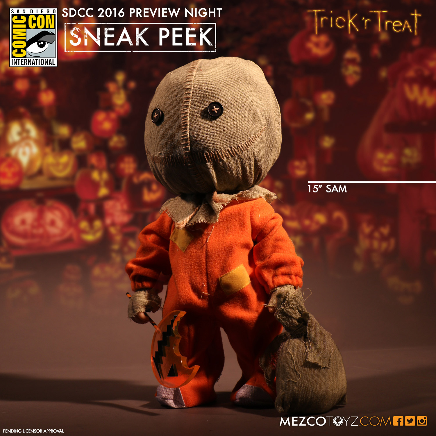 Trick 'r Treat 15 inch Sam