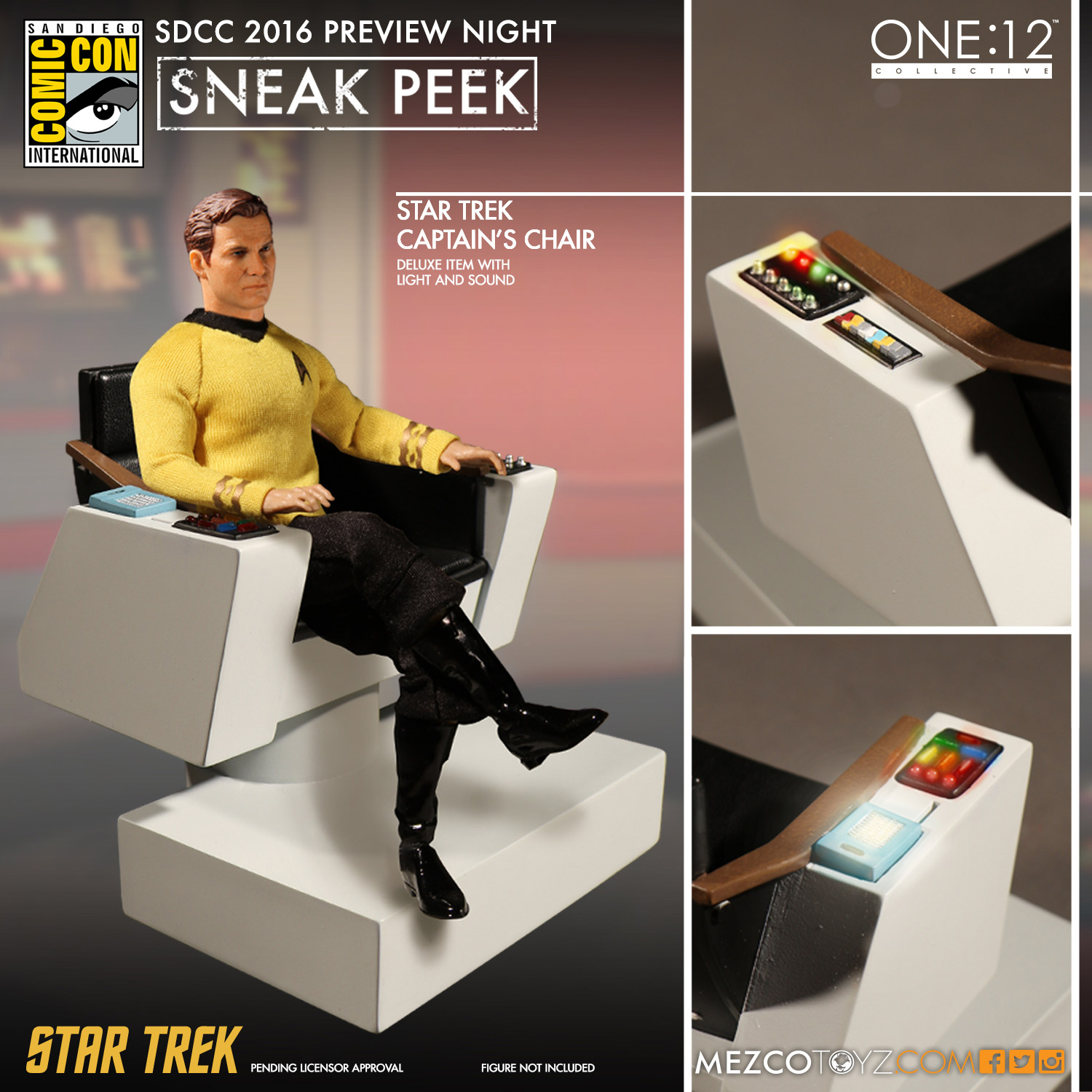One:12 Collective Star Trek Captain's Chair