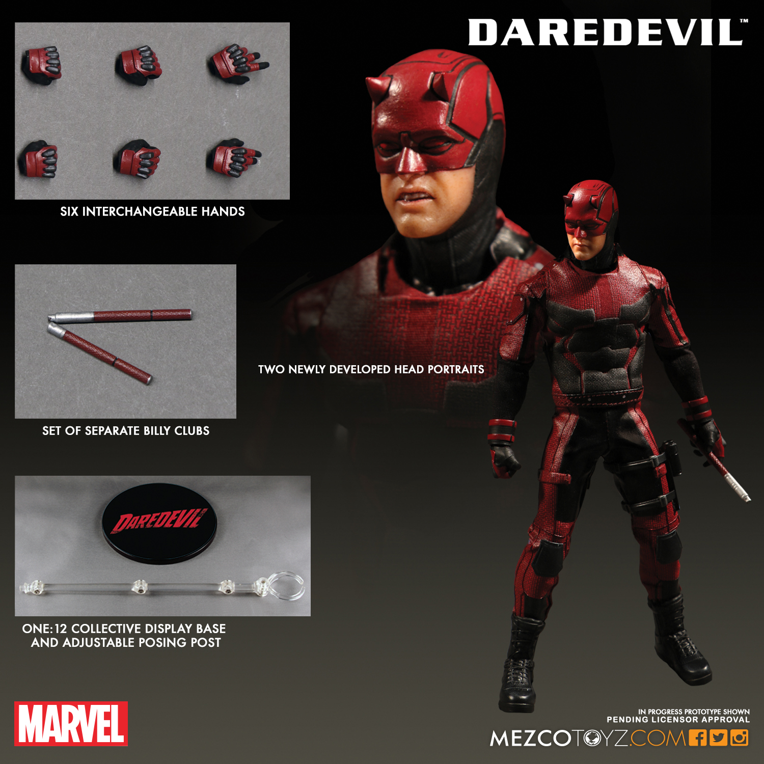 Mezco 2017 One:12 Daredevil