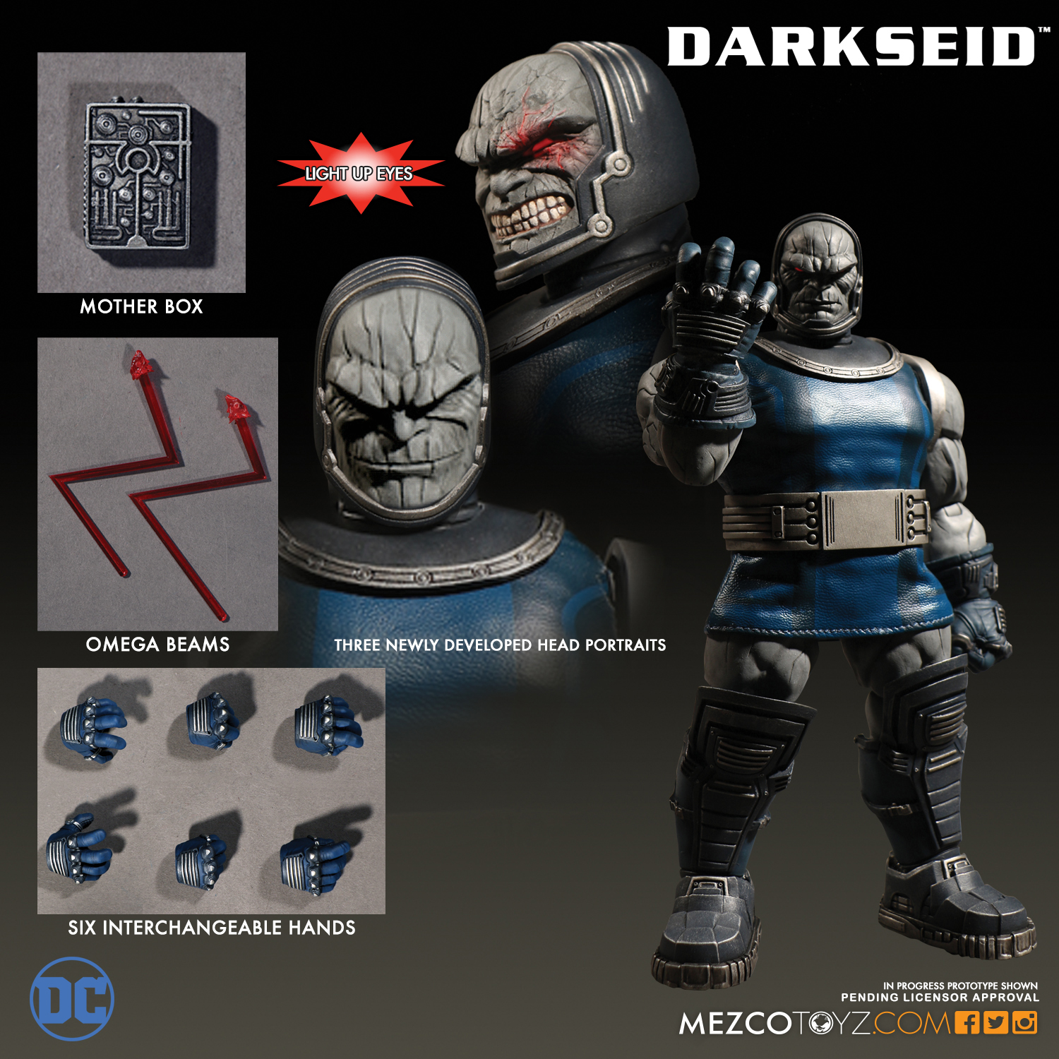 Mezco 2017 One:12 Darkseid