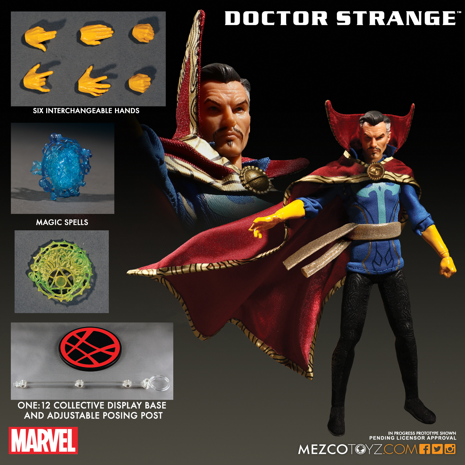 Mezco 2017 One:12 Doctor Strange