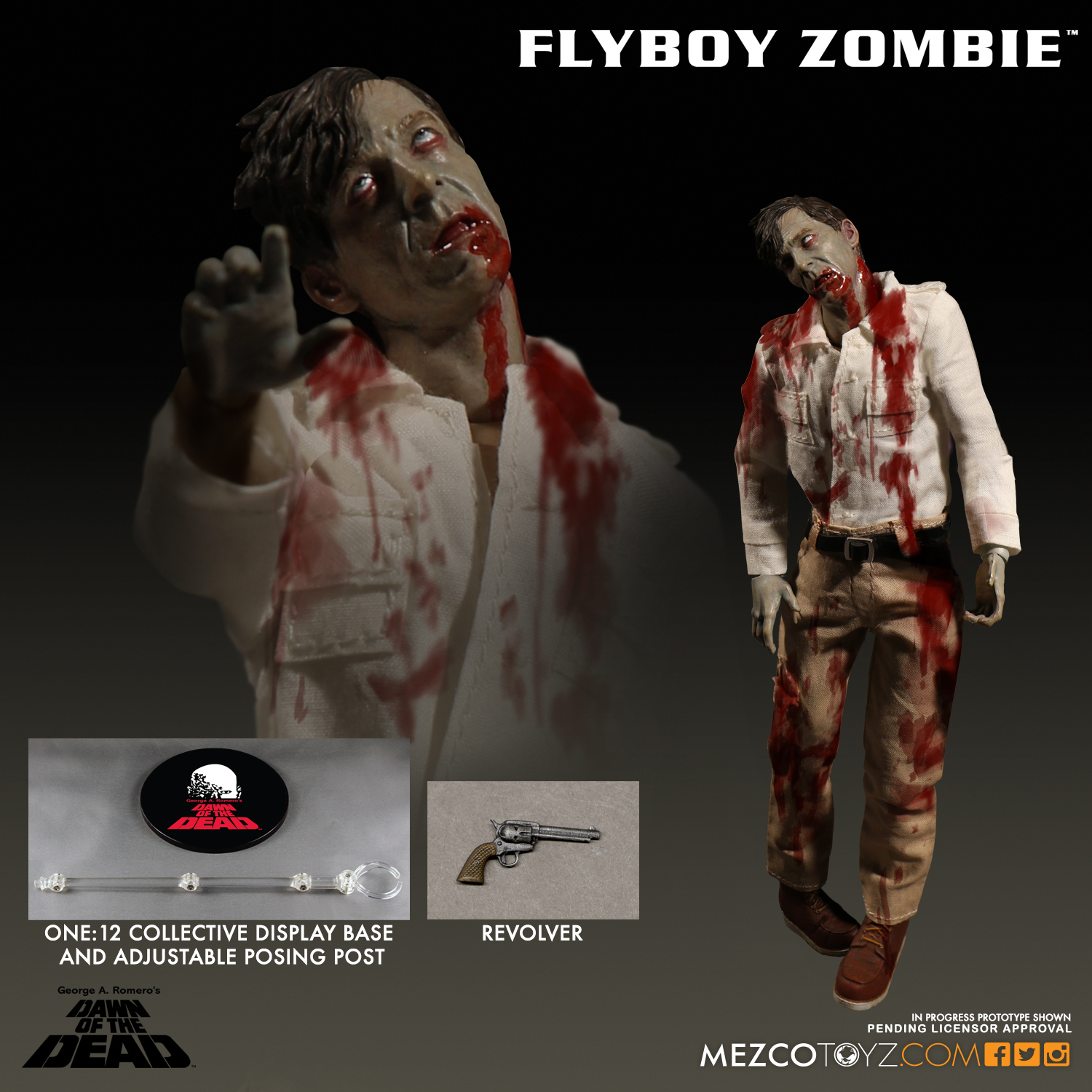 Mezco 2017 One:12 Dawn of the Dead Flyboy