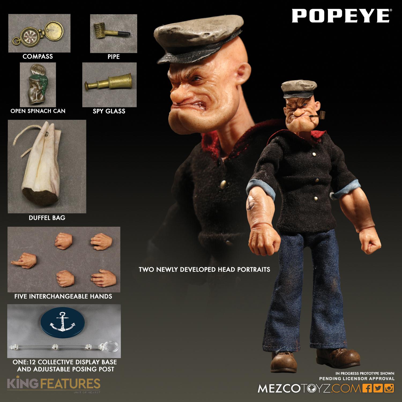 Mezco 2017 One:12 Popeye