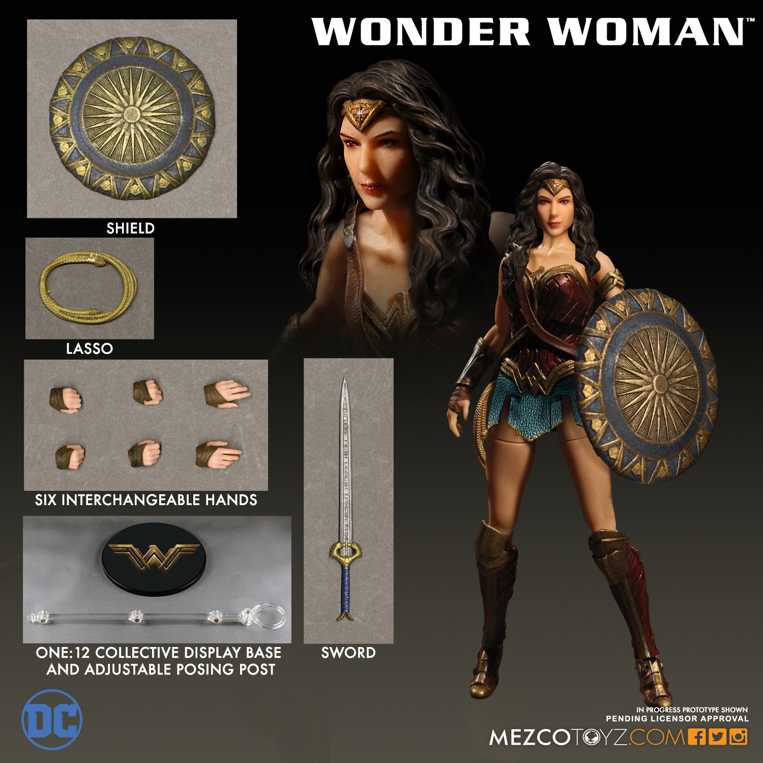 Mezco 2017 One:12 Wonder Woman