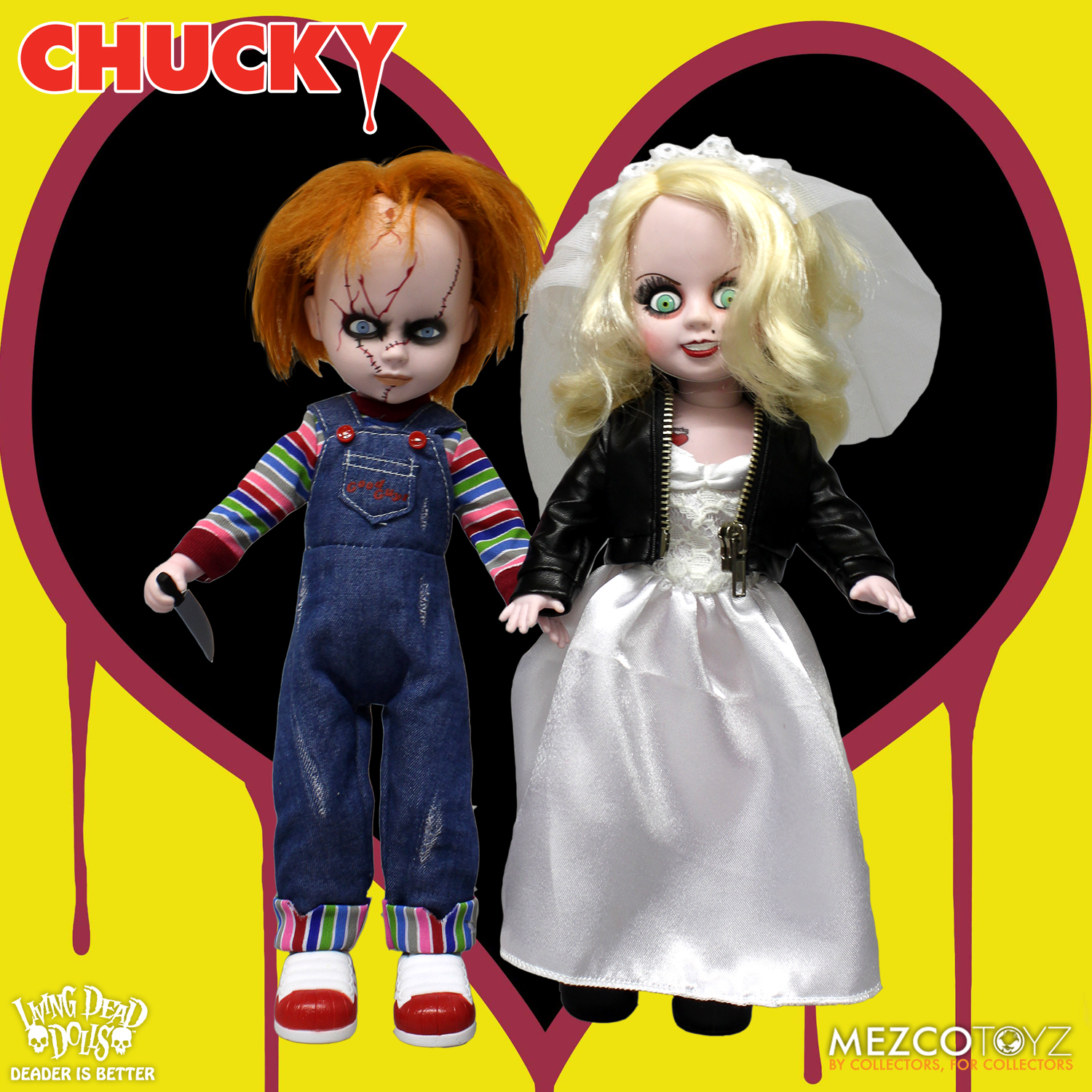 throwback thursday chucky and tiffany living dead dolls